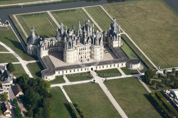 Château de Chambord vu du ciel, 41250