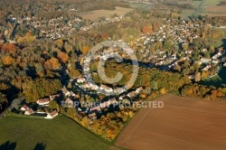Le Val-Saint-Germain village vue du ciel