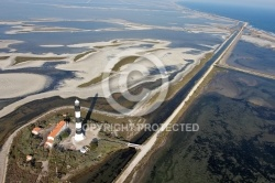 Photo aerienne  Phare de Faraman en Camargue