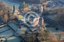 Photo aerienne du chateau du Haut Rosay - septeuil  78790