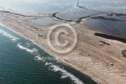 Photo aerienne plage du  Salin de Giraud