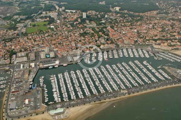 Vue a rienne du port de plaisance d arcachon gironde 33 - Restaurant arcachon port de plaisance ...